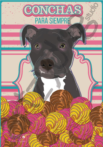 Print: Pitbull: Conchas para Siempre