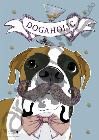 Print: Boxer: Dogaholic