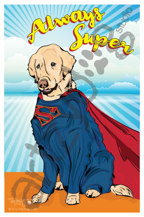 Print: Golden Retriever: Always Super