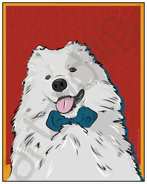 Print: #Doggust: Samoyed