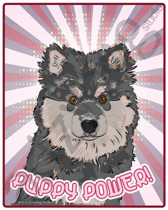 Print: #Doggust: Finnish Lapphund