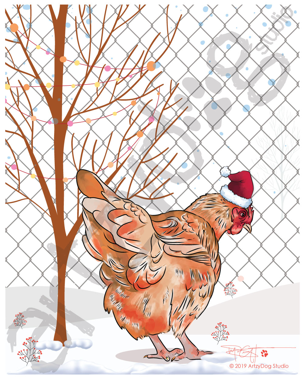 Print: Christmas Chicken