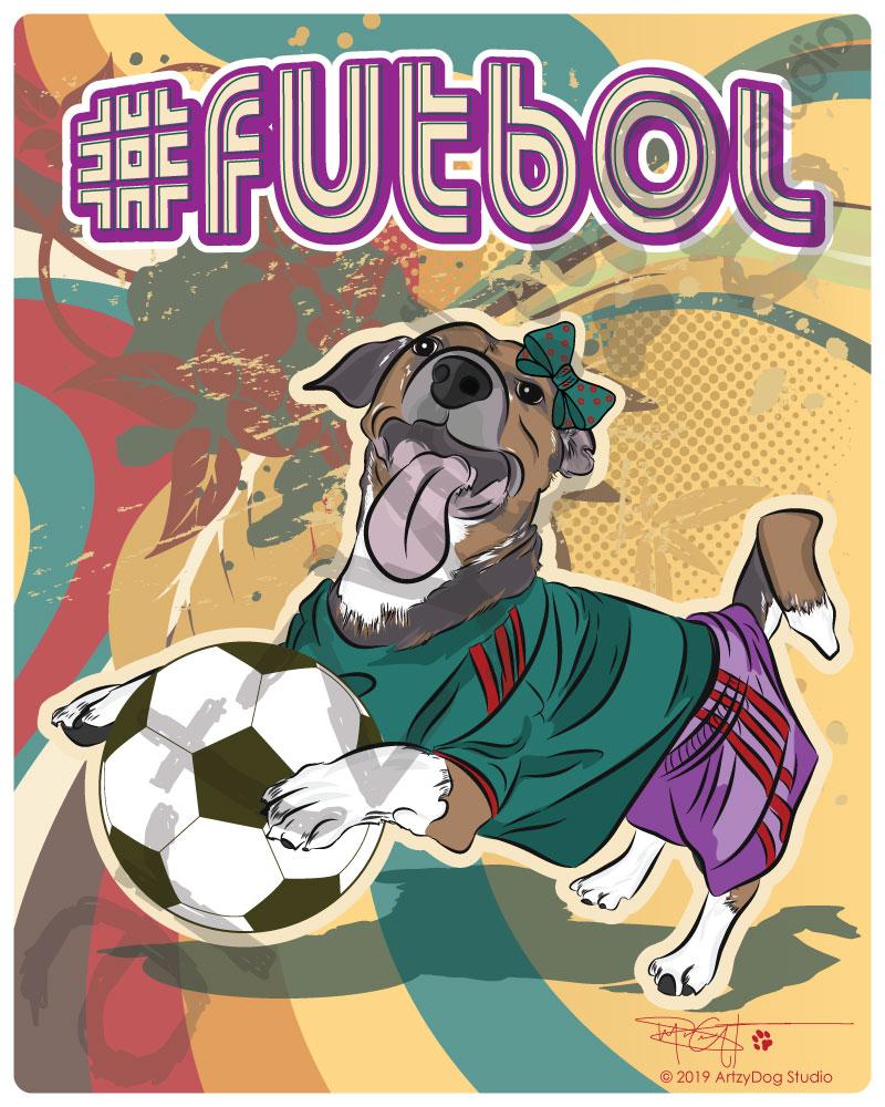 Print: Viva #futbol Terrier