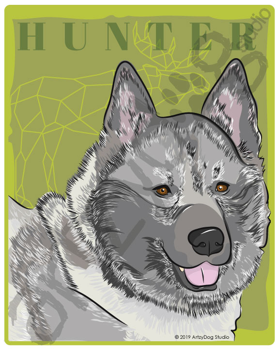 Print: #Doggust: Norwegian Elkhound