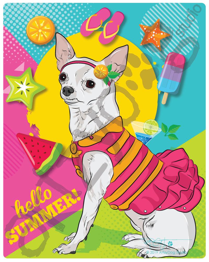 Print: Chihuahua - Hello Summer!
