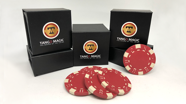 Expanded Shell Poker Chip Red plus 4 Regular Chips  - $25