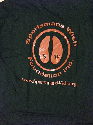 T-Shirt - Green with Orange letters