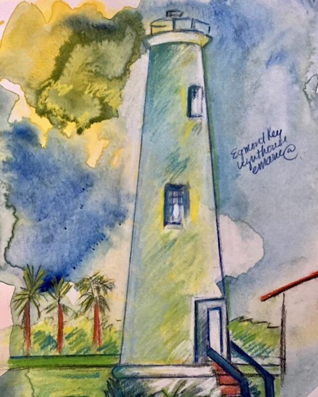 Egmont  Lighthouse, Egmont Key Wildlife Preserve, Florida