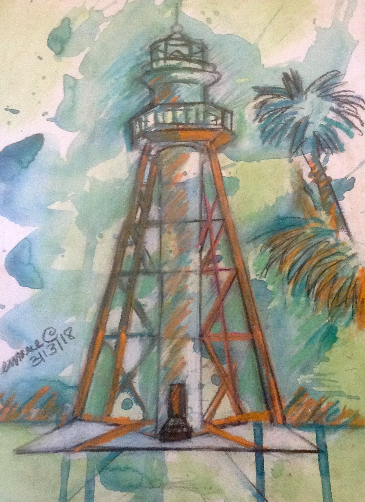 Anclote Key Lighthouse, Anclote Key State Preserve, Florida