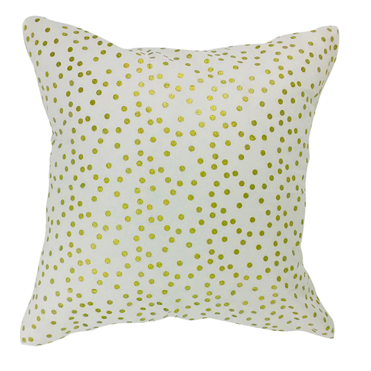 """Ivory Gold Polka"" Pillow Cover"