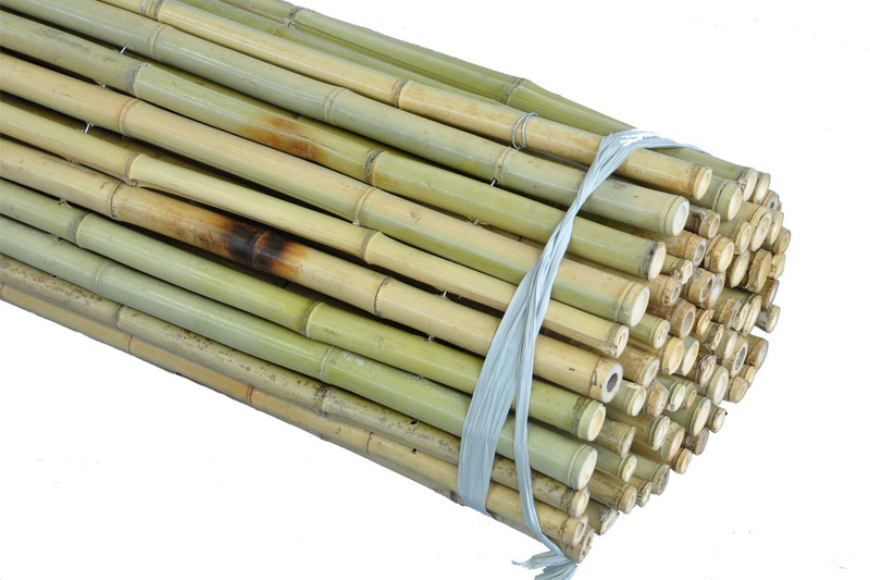 Natural Bamboo Fence, 1''D x 8'H x 8'L (Store pickup only)