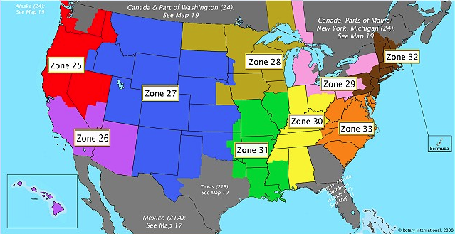 Map of Zones 21b/27