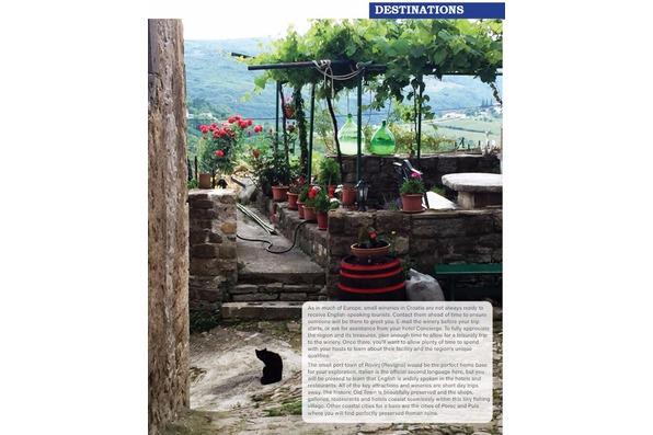 Scenic hilltop town in Istria