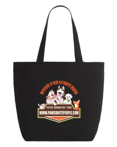 Rescued is Our Favorite Breed  Zippered Tote Bag