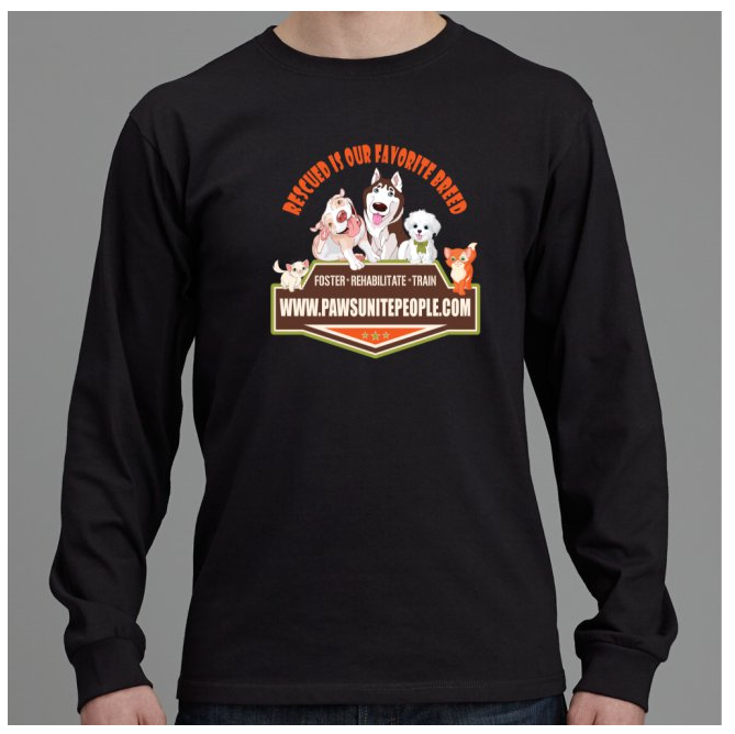 Rescued is our favorite breed long sleeve shirt