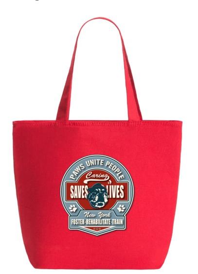 Otis Logo Zippered Tote Bag