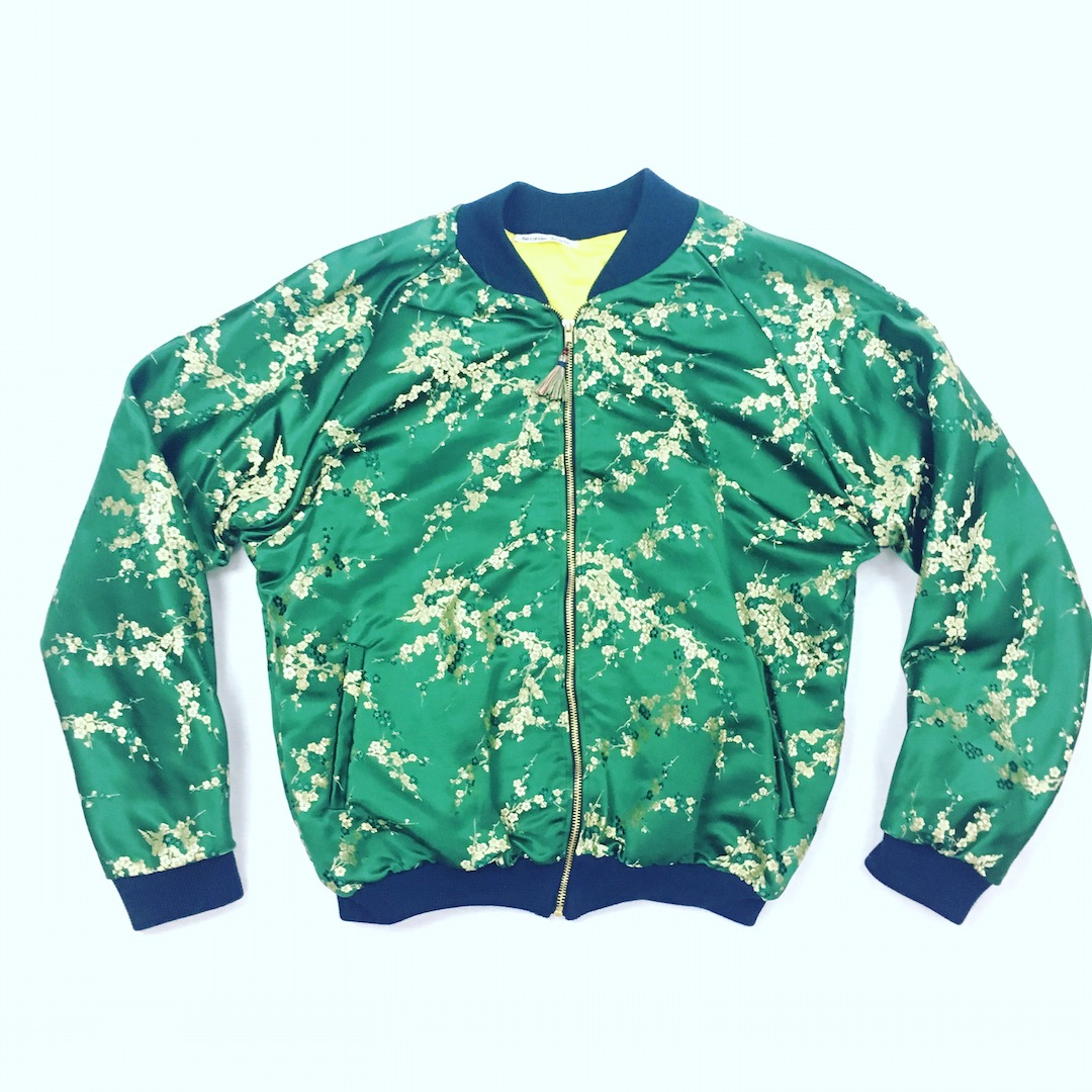 Green Lacquer Bomber Jacket