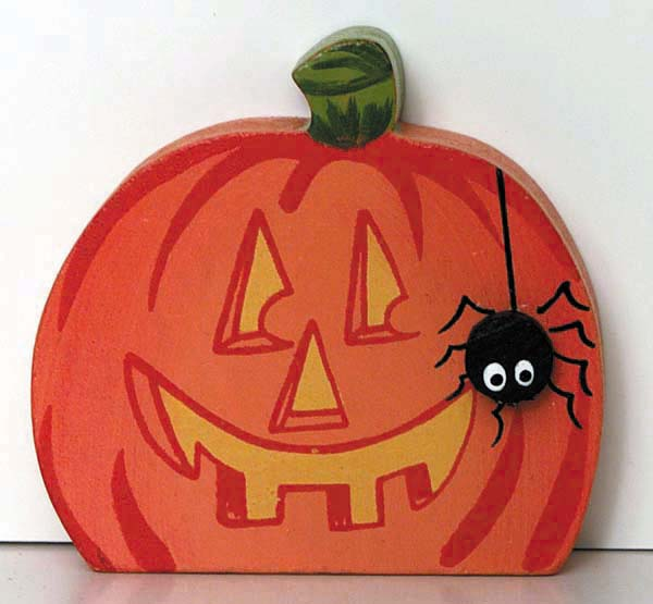 Happy Pumpkin with Spider