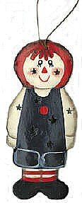 Raggedy Andy Tin Orrnament
