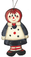 Raggedy Ann Tin Ornament