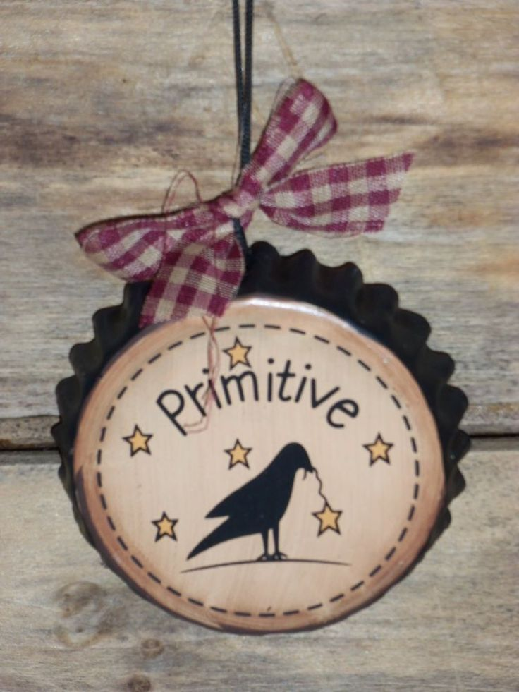 Prim Crow Bottle Cap