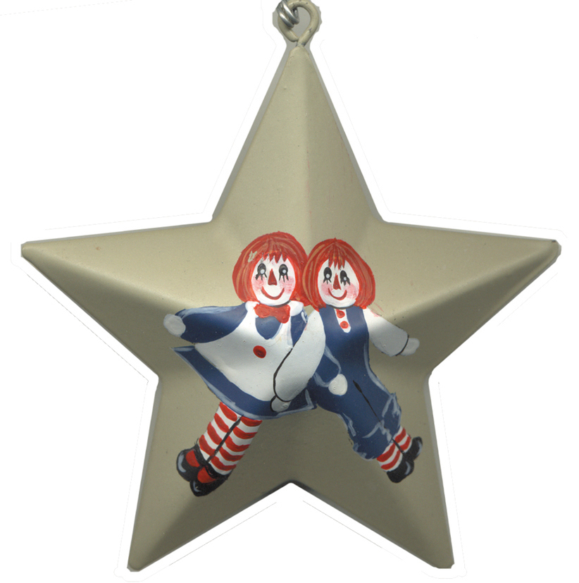 Ann & Andy Tin Star Ornament