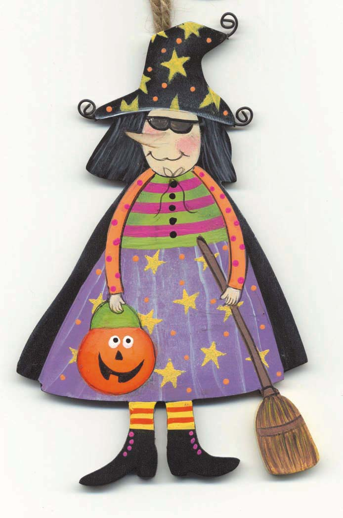 Funny Witch with Broom
