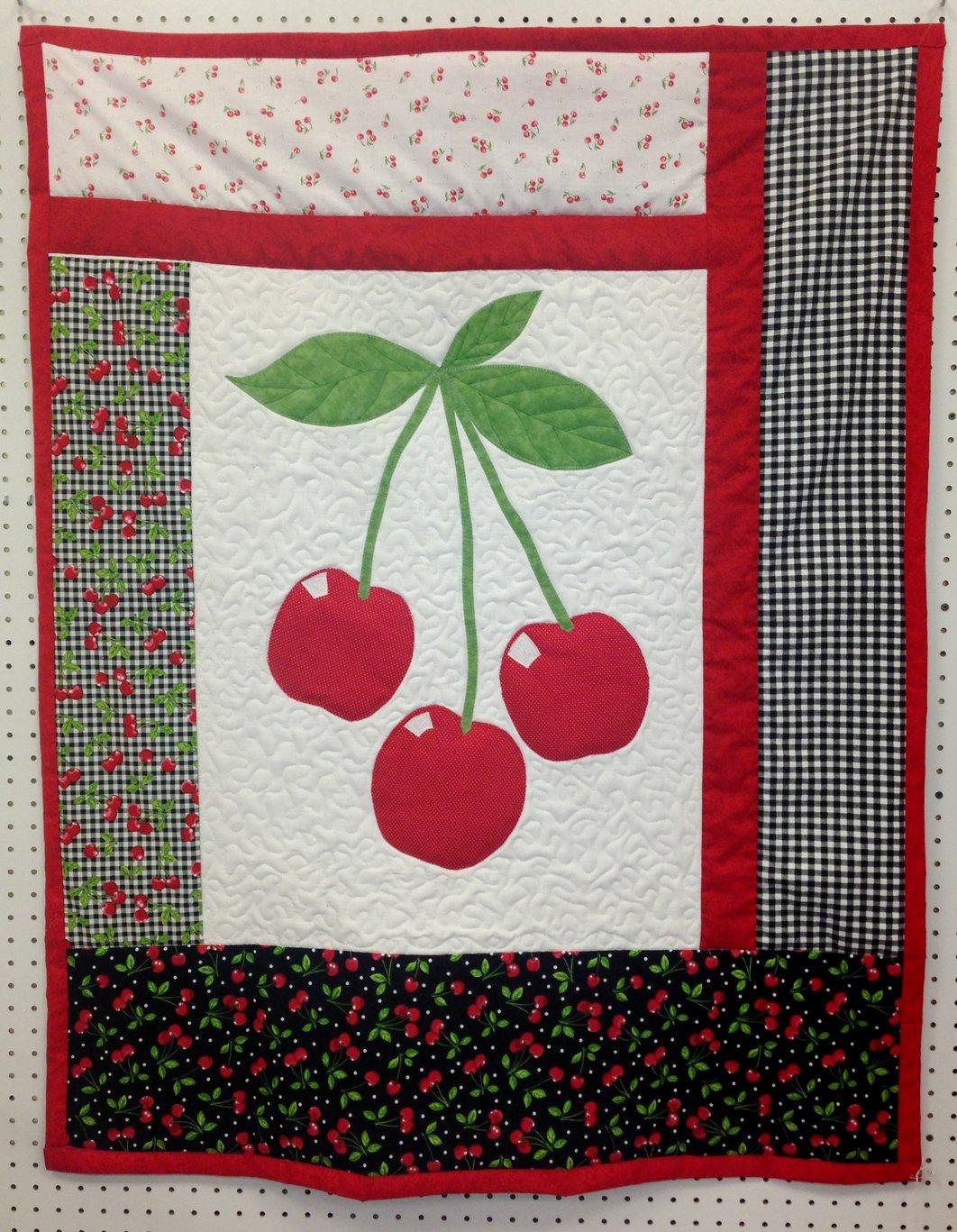 Red Cherries crib quilt