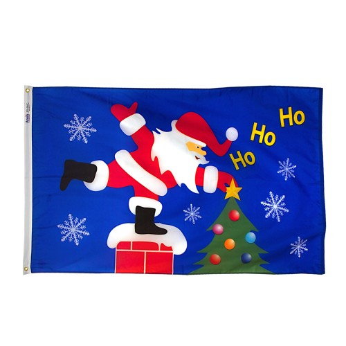 Annin Santa Christmas Flag
