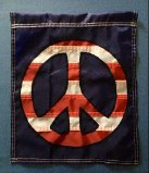 Red, White & Old Glory Blue Peace Garden Banner