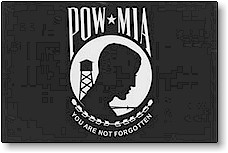 POW*MIA FLAGS- DOUBLE SIDED