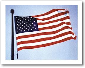 NYLON AMERICAN FLAG