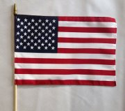 "12"" x 18"" American Flag on Staff"