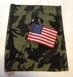 "Camouflage Garden Banner with 4"" x 6"" American Flag Attached"