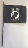 "5 Pack Bundle of 4"" x 6"" POW*MIA Flag on Staff"