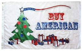 BUY AMERICAN CHRISTMAS TREE FLAG