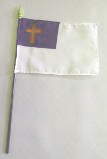 "5 Pack Bundle 4"" x 6"" Christian Flag on Staff"