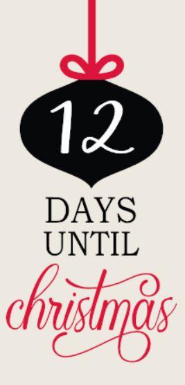 """Chalkboard Countdown"" DIY Days til Christmas Wood Sign Kit (12inx24in)"