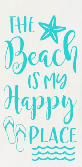 """Beach is My Happy Place"" DIY Wood Sign Kit (12inx24in)"