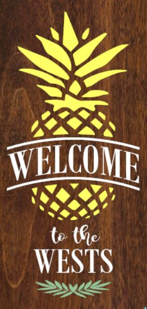 """Customizable Pineapple"" DIY Wood Sign Kit (12inx24in)"