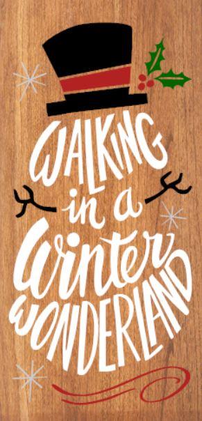 """""""Winter Wonderland"""" DIY Christmas Wood Sign Kit (12inx24in)"""