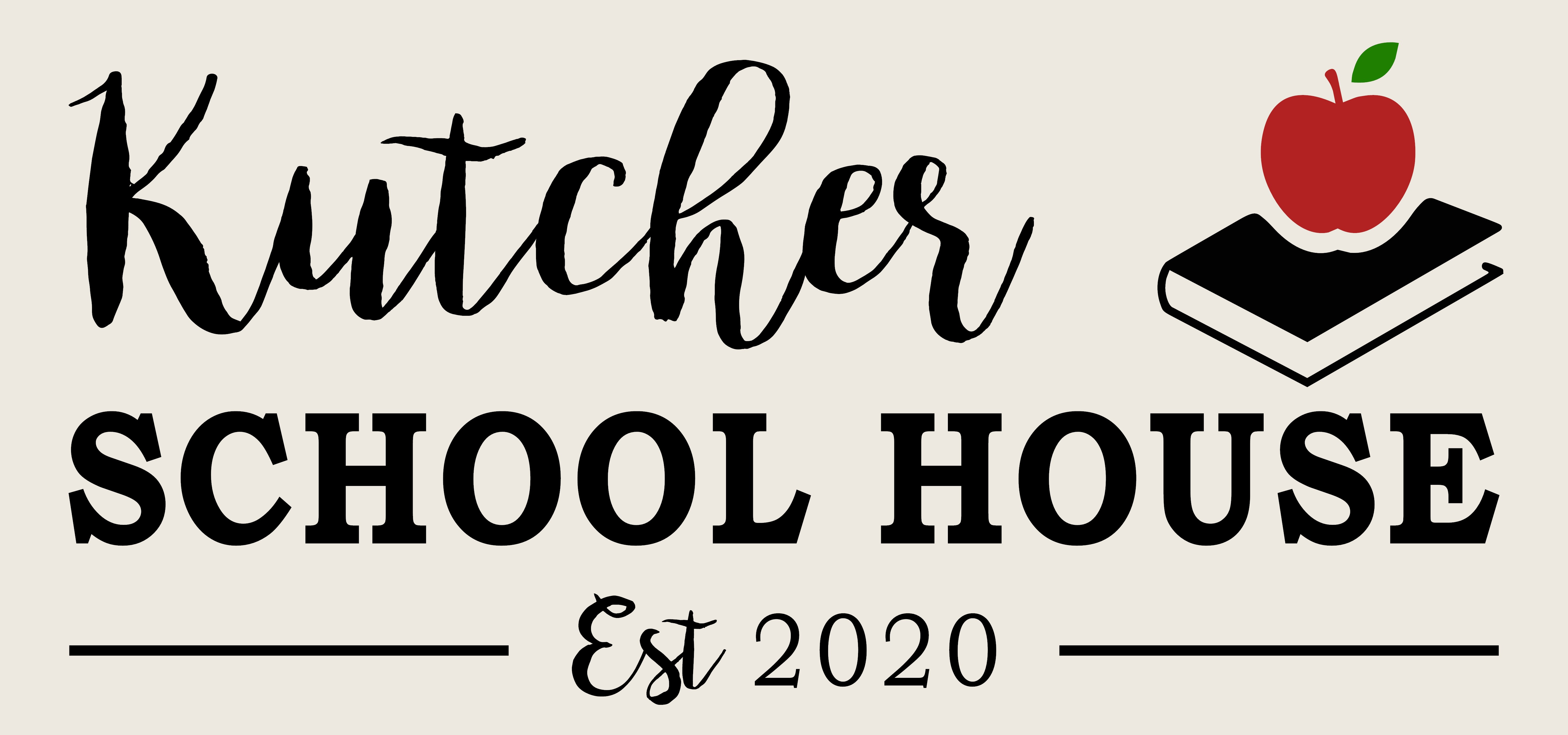 """Customizable School House Sign"" DIY Wood Sign Kit (12inx24in)"