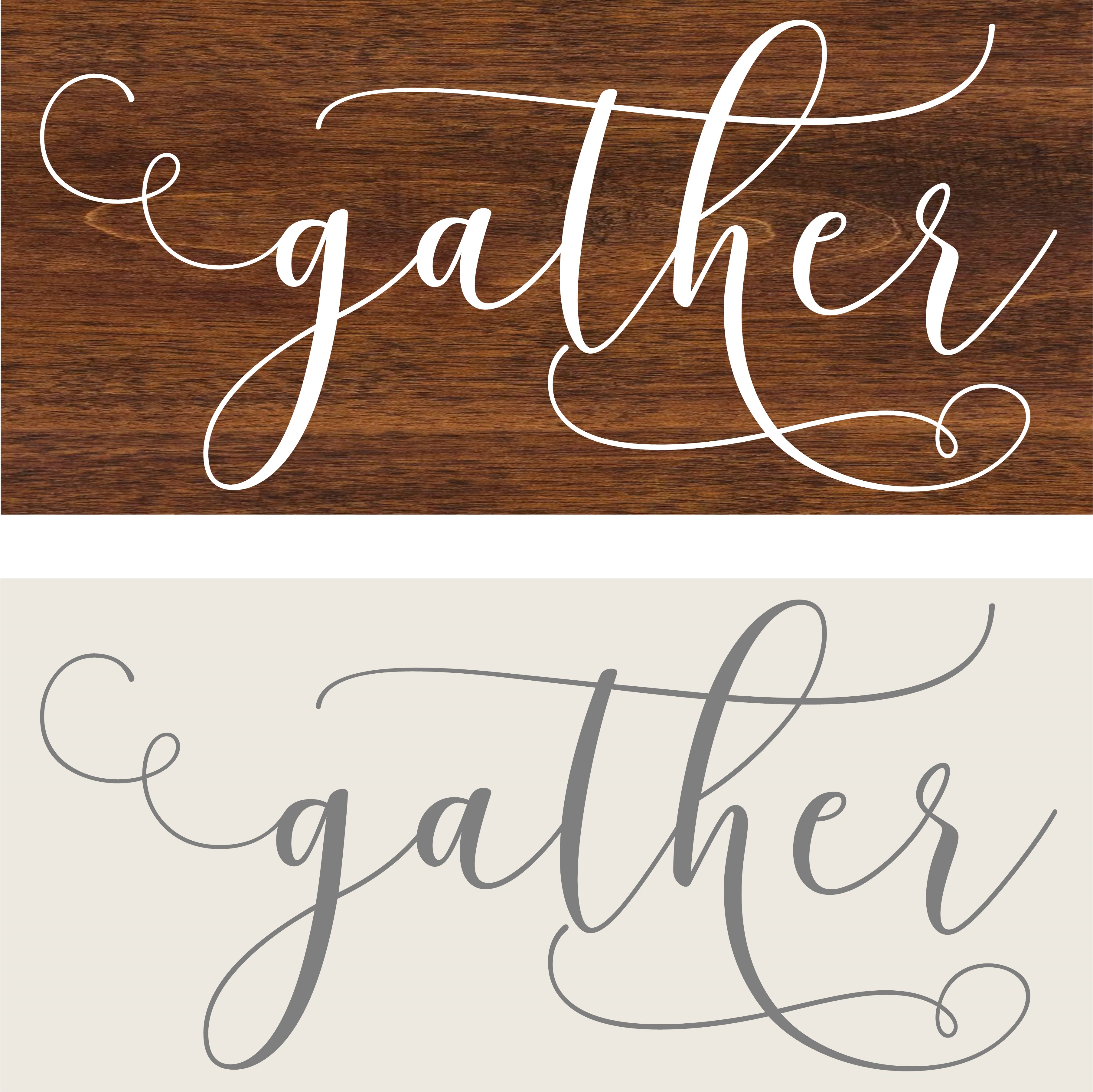 """Gather"" DIY Wood Sign Kit (12inx24in)"