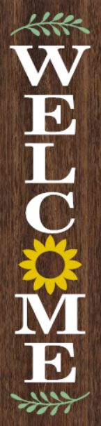 """Flower"" DIY Wood Porch Sign Kit (12inx48in)"