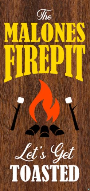 """Customizable Firepit"" DIY Wood Sign Kit (12inx24in)"
