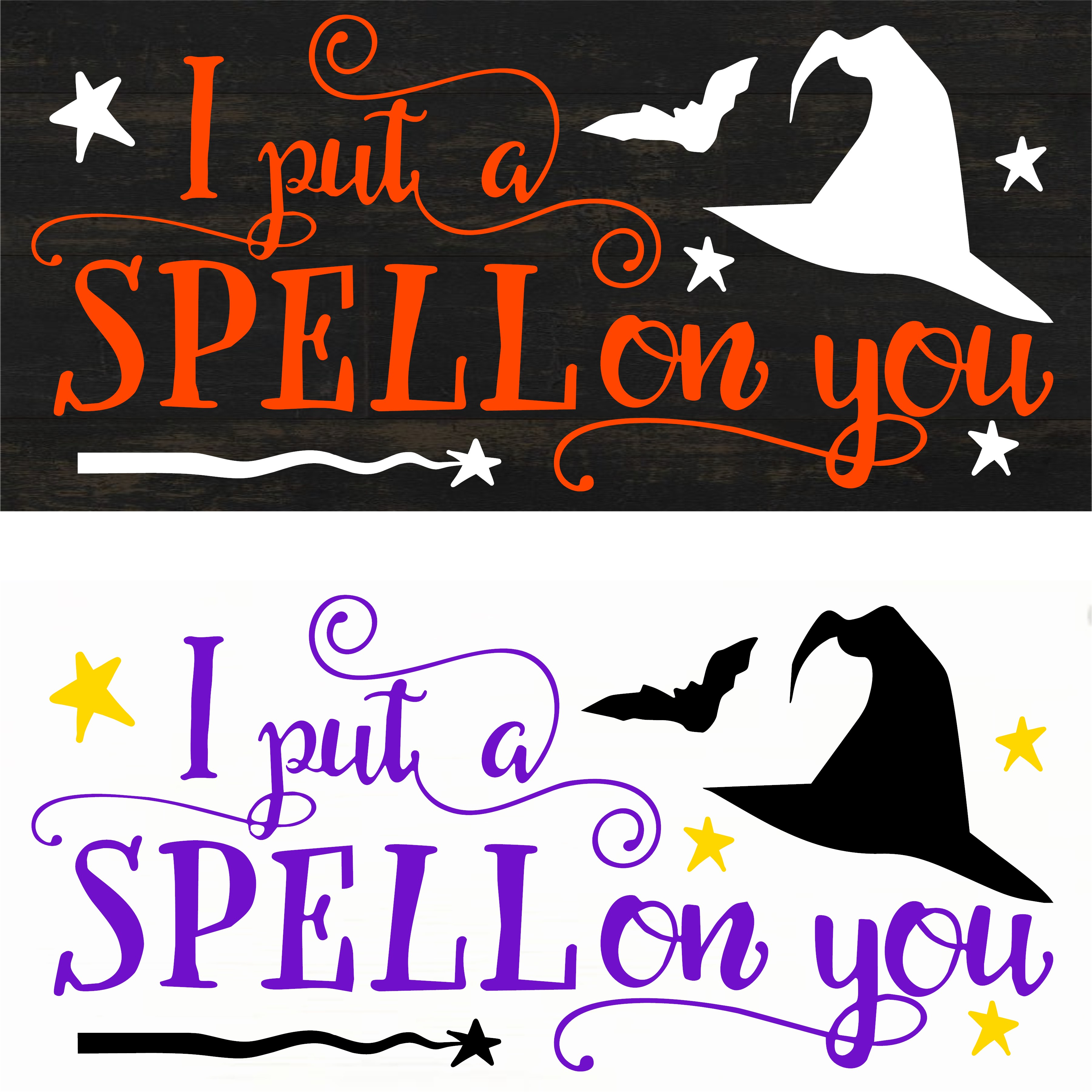 """I Put a Spell On You"" DIY Halloween Wood Sign Kit (12inx24in)"