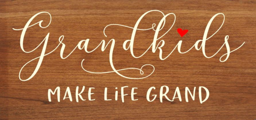 """Grandkids Make Life Grand"" DIY Wood Sign Kit (12inx24in)"