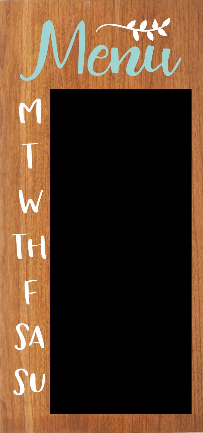 """""""Chalkboard Menu"""" DIY Wood Sign Kit (12inx24in)"""