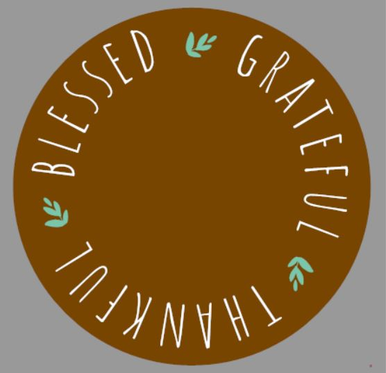 """Grateful Lazy Susan/Round Sign"" DIY Wood Sign Kit (17in Round)"