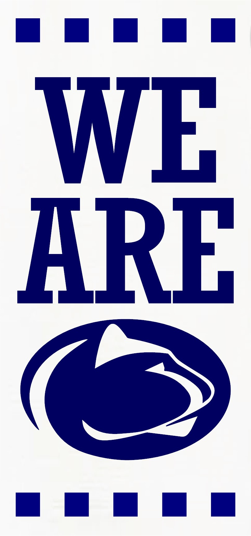 """""""We Are Penn State"""" DIY Wood Sign Kit (12inx24in)"""